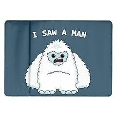 Yeti   I Saw A Man Samsung Galaxy Tab 10 1  P7500 Flip Case by Valentinaart