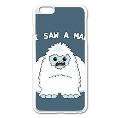 Yeti   I Saw A Man Apple Iphone 6 Plus/6s Plus Enamel White Case by Valentinaart