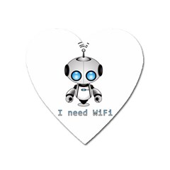 Cute Robot Heart Magnet by Valentinaart