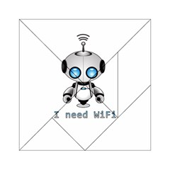 Cute Robot Acrylic Tangram Puzzle (6  X 6 ) by Valentinaart