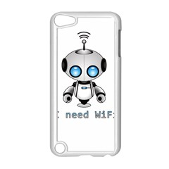 Cute Robot Apple Ipod Touch 5 Case (white) by Valentinaart