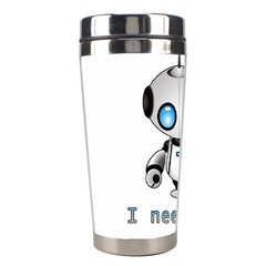 Cute Robot Stainless Steel Travel Tumblers by Valentinaart
