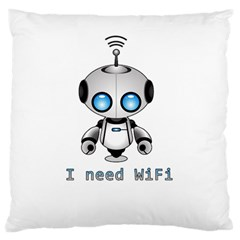 Cute Robot Standard Flano Cushion Case (one Side)