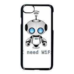 Cute Robot Apple Iphone 7 Seamless Case (black) by Valentinaart
