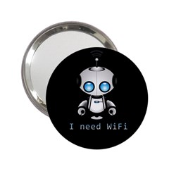 Cute Robot 2 25  Handbag Mirrors