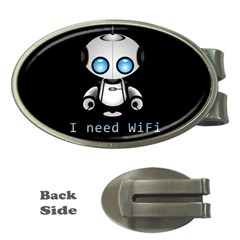 Cute Robot Money Clips (oval)  by Valentinaart