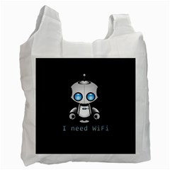 Cute Robot Recycle Bag (two Side)