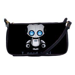 Cute Robot Shoulder Clutch Bags by Valentinaart