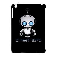 Cute Robot Apple Ipad Mini Hardshell Case (compatible With Smart Cover) by Valentinaart