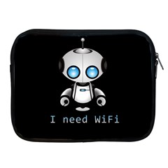 Cute Robot Apple Ipad 2/3/4 Zipper Cases by Valentinaart