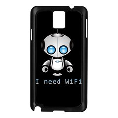Cute Robot Samsung Galaxy Note 3 N9005 Case (black) by Valentinaart