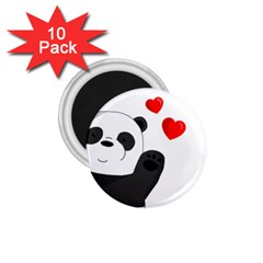 Cute Panda 1 75  Magnets (10 Pack)