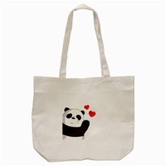 Cute Panda Tote Bag (cream) by Valentinaart