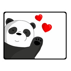 Cute Panda Double Sided Fleece Blanket (small)