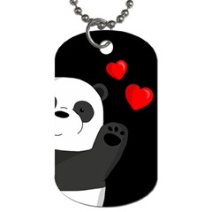 Cute Panda Dog Tag (two Sides) by Valentinaart