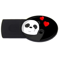 Cute Panda Usb Flash Drive Oval (4 Gb) by Valentinaart
