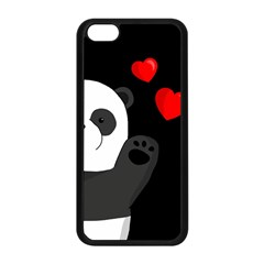 Cute Panda Apple Iphone 5c Seamless Case (black) by Valentinaart