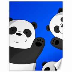 Cute Pandas Canvas 12  X 16   by Valentinaart