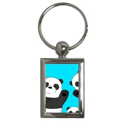 Cute Pandas Key Chains (rectangle)  by Valentinaart