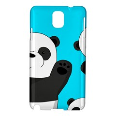 Cute Pandas Samsung Galaxy Note 3 N9005 Hardshell Case by Valentinaart