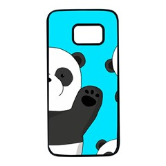 Cute Pandas Samsung Galaxy S7 Black Seamless Case