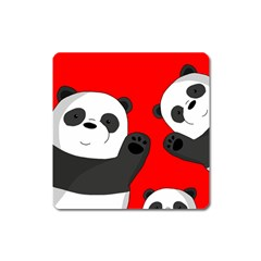 Cute Pandas Square Magnet by Valentinaart