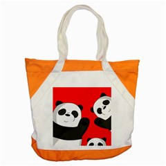 Cute Pandas Accent Tote Bag by Valentinaart
