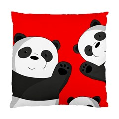 Cute Pandas Standard Cushion Case (one Side) by Valentinaart