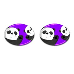 Cute Pandas Cufflinks (oval) by Valentinaart