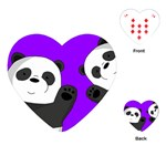 Cute pandas Playing Cards (Heart)  Front