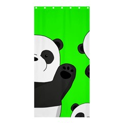 Cute Pandas Shower Curtain 36  X 72  (stall)  by Valentinaart