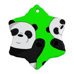 Cute Pandas Ornament (snowflake)