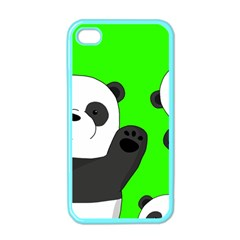 Cute Pandas Apple Iphone 4 Case (color) by Valentinaart