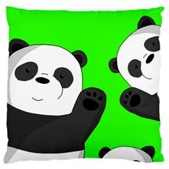 Cute Pandas Large Cushion Case (two Sides)