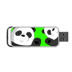 Cute Pandas Portable Usb Flash (one Side) by Valentinaart