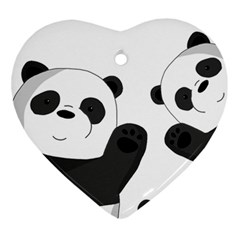Cute Pandas Ornament (heart)