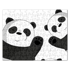 Cute Pandas Rectangular Jigsaw Puzzl