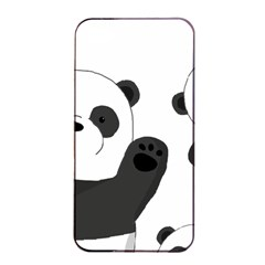 Cute Pandas Apple Iphone 4/4s Seamless Case (black) by Valentinaart