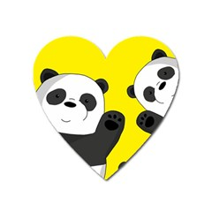 Cute Pandas Heart Magnet