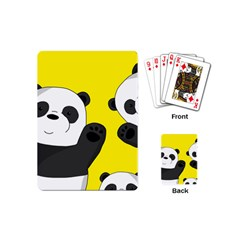 Cute Pandas Playing Cards (mini)  by Valentinaart