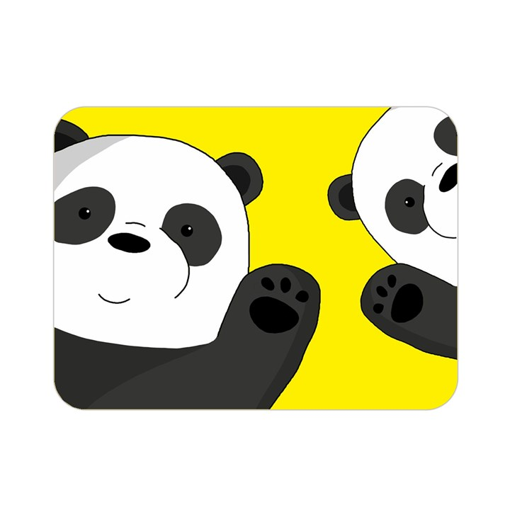 Cute pandas Double Sided Flano Blanket (Mini)