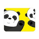 Cute pandas Double Sided Flano Blanket (Mini)  35 x27 Blanket Back