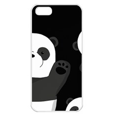 Cute Pandas Apple Iphone 5 Seamless Case (white)