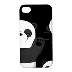 Cute Pandas Apple Iphone 4/4s Hardshell Case With Stand by Valentinaart