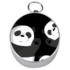Cute Pandas Silver Compasses by Valentinaart