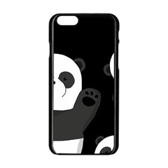 Cute Pandas Apple Iphone 6/6s Black Enamel Case
