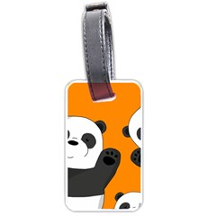Cute Pandas Luggage Tags (one Side)  by Valentinaart