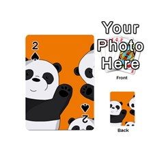 Cute Pandas Playing Cards 54 (mini)  by Valentinaart