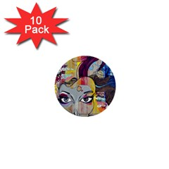 Graffiti Mural Street Art Painting 1  Mini Buttons (10 Pack)  by BangZart
