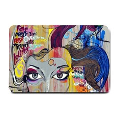 Graffiti Mural Street Art Painting Small Doormat  by BangZart